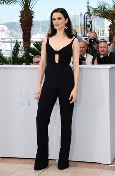 hollywood-fashion:  CANNES DAY 3: Rachel Weiz in Narciso Rodriguez at the Cannes Film Festival photocall for The Lobster on May 13, 2015.