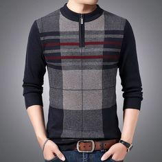Pullover Designs, Stylish Mens Outfits, Wool Sweaters, Sleeve Styles, Men Sweater, Plaid, Casual, Model, Sleeves