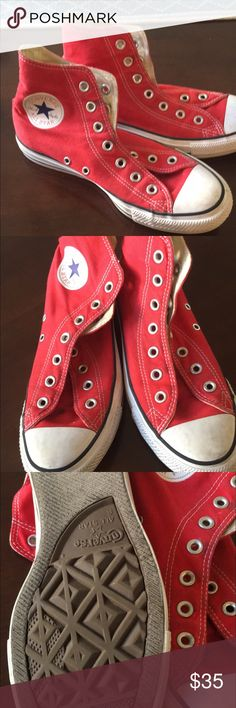 Red converse Red converse like new Converse Shoes Sneakers