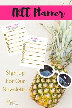 Sign up for our newsletter to receive your FREE weekly social media planner
