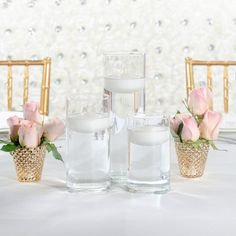 and with our set of 18 on a crystal white backdrop. Wedding Decorations, Table Decorations, White Backdrop, Floating Candles, Event Design, Tablescapes, Backdrops, Candle Holders, Table Settings