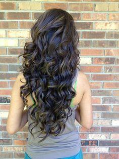 Long curly hair <3 love it