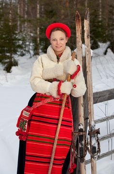 Boda costume from Dalecarlia, Sweden