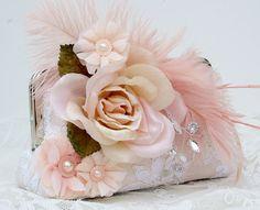 Great Gatsby / Blush Bridal Clutch / Vintage by PetiteVintageBags, $92.00
