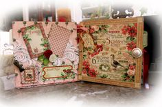 Layout: 12 Days Of Christmas Mini Album by Reneabouquets #graphic45