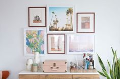 Much of the vibe of the apartment is due to the imagery. Ocean prints, palms, and pastel patterns...