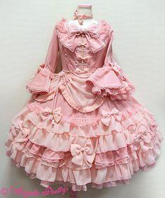 Aphrodite dress - pink (アフロディーテドレス) | #AngelicPretty #AP #OnePiece #Dress #Lolita