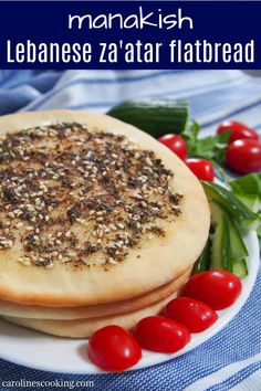 Manakish za'atar are delicious flatbread from the Levantine region topped with olive oil and za'atar. The oil and herbs add lots of aromatic flavor, making this bread perfect to snack on. #flatbread #zaatar #middleeasternbread #lebanesefood Waffle Recipes, Lunch Recipes, Easy Dinner Recipes, Breakfast Recipes, Bread Recipes, Cooking Recipes, Middle Eastern Bread, Middle Eastern Recipes, Spring Recipes