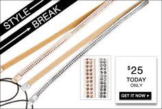 STYLE BREAK! Get the Celeste hairband set for $25. Today Only!    https://langsluxuries.kitsylane.com