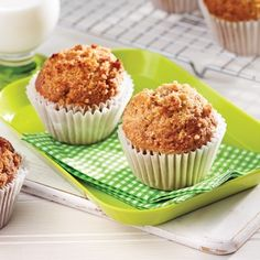 How to Bake Muffins Apple Recipes, Muffin Recipes, Cupcake Recipes, Sweet Recipes, Peanut Butter Muffins, Healthy Peanut Butter, No Bake Desserts, Delicious Desserts, Baking Muffins