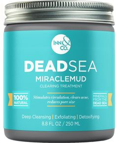 [HIGHEST QUALITY] Dead Sea MIRACLEMUD Clearing Treatment 8.8 FL OZ - Blackhead Mask, Minimize Pores, Reduce Wrinkles, Improves Complexion, Acne Treatment -- For more information, visit image link. (This is an affiliate link and I receive a commission for the sales)