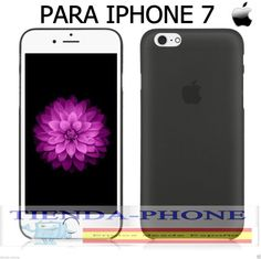 FUNDA CARCASA TPU  RIGIDA NEGRA ULTRA THIN FINA 0,5 MM IPHONE 7( NO SILICONA )