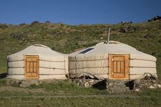 Our deluxe gers are set up against the backdrop of Bulagtai Mountain in the Gobi. Come check out luxury comforts in an authentic setting! Three Camel Lodge | Gobi Desert, Mongolia