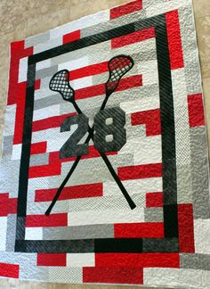 Lacrosse Quilt: So in love with this!!