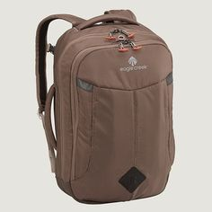 The Briefcase Backpack RFID laptop backpack has a 17 in laptop sleeve and a back slip panel so it can be stacked on,Price - $120.00-erDutHrg