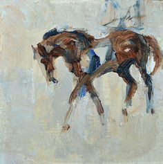 """Gesture Study"" oil & cold wax by Gayla Wiedenheft"