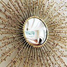 Brass Metal   Interior Decor   Design Trends   Starburst Mirror   Home Decor   Glam Mirror