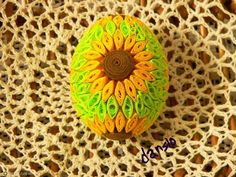 Egg Art, Egg Decorating, Paper Beads, Paper Quilling, Easter Eggs, Origami, Crochet Earrings, Candle Holders, Projects To Try