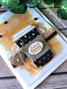 Stampin' Up! Coffee Cafe Stamp Set Love is Brewing Card - Peggy Noe stampinup - Pretty Paper Cards