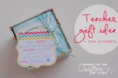 end of school year gift ideas!! about 10 ideas with pics listed