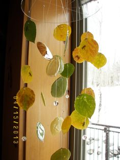 Real Aspen Leaf Mobile by MobileMadness on Etsy, $75.00