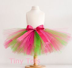 Pink and Green Tutu Baby tutu or Toddler by TinyTotsTutuBoutique, $17.99
