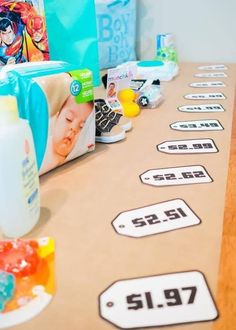 The Price Is Right Baby Shower Game is fun and easy to set up. Click to get your free printable baby shower games. You have two options: choose your own products to add or choose the free download that already did the work for you. Pin It!... because your guests will love it! #babyshower #babyshowergames #priceisright Baby Shower Floral, Idee Baby Shower, Fiesta Baby Shower, Girl Shower, Easy Baby Shower Games, Baby Games, Baby Shower Twins, Bany Shower Games, Baby Shower Games Printable