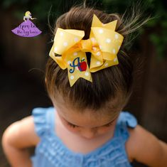 7237678c5246 Back to School Apple Bow with Initial Letter (Multiple Color Options) – Southern  Belles