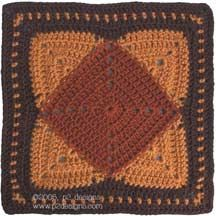 Charity Pattern - Quilted Granny:Square-in-Square (crochet)