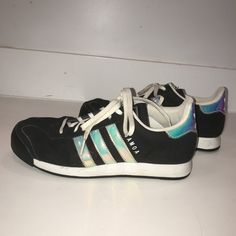7c98d528e7af Holographic adidas sneakers. Originally  60. Worn a few - Depop Holographic  Adidas