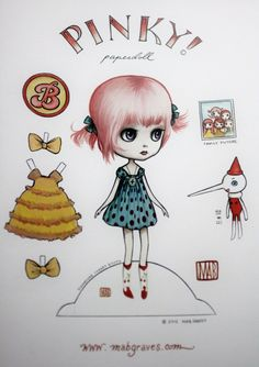Pinky paperdoll