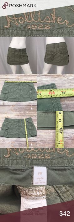 🌴Size 9 Hollister Army Green Cargo Mini Skirt Measurements are in photos. Normal wash wear, no flaws. B2/36  I do not comment to my buyers after purchases, due to their privacy. If you would like any reassurance after your purchase that I did receive your order, please feel free to comment on the listing and I will promptly respond.   I ship everyday and I always package safely. Thank you for shopping my closet! Hollister Skirts Mini