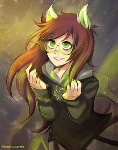 I'm not actually in the Homestuck fandom, but I kind of like Jade because she looks like me. Haha.
