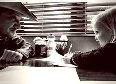 """Jeremy Renner & Ava: """"Daddy Daughter Day"""" - http://site.celebritybabyscoop.com/cbs/2016/04/07/jeremy-renner-daughter #AvaRenner, #JeremyRenner, #SetVisit"""