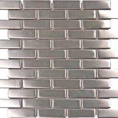 Metallic Wall Tiles, Stone Backsplash, Kitchen Backsplash, Backsplash Ideas, Floors Kitchen, Kitchen Dining, Mosaic Backsplash, Stainless Steel Sheet, Best Floor Tiles
