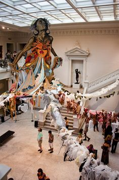 New Orleans Museum of Art (NOMA)! The suspended ocean goddess, entitled Thalassa, is the newest installation from street artist Swoon.