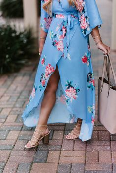 Spring outfit idea - floral maxi dress