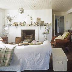 Living Etc. {rustic white living room}