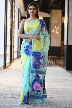Dhakai Jamdani Saree, Tussar Silk Saree, Pure Silk Sarees, Cotton Saree, Cotton Silk, Half And Half, Designer Party Wear Dresses, Casual Saree, Beautiful Saree