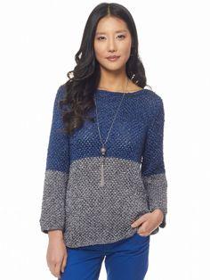 Color Dipped Top | Yarn | Free Knitting Patterns | Crochet Patterns | Yarnspirations