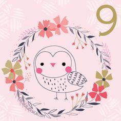 Christmas advent 9 © Gina Maldonado 2015 cocogigidesign.com #Christmas #owl #advent