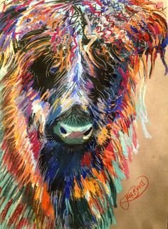 Crimpy Coo, Pastel on pastelmat, 35x50cms approx