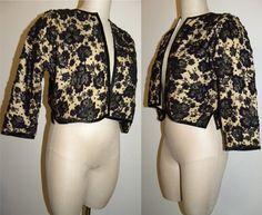 1950s 50s Beaded Cardigan / Lace / heavily beaded / women / sweater / jumper / True Vintage / Rockabilly / Romantic / XS/S - pinned by pin4etsy.com