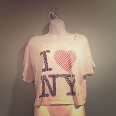 I ❤️ NY White Crop Top 🗽 Used | Small Imperfections | Ok Condition | Crop Top Style | Fits a L or XL | White Background | Red & Black Writing | Short Sleeves | Lightweight | Semi Sheer | 🚫 Trades | Feel Free To Ask Questions 🙋| More 📷 Upon Request | Bundles Are Welcomed ❤️| Old Navy Tops Crop Tops