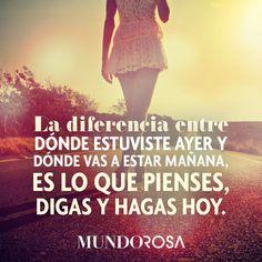 frases, ayer, mañana, pensar, hoy http://www.mundorosa.com.mx