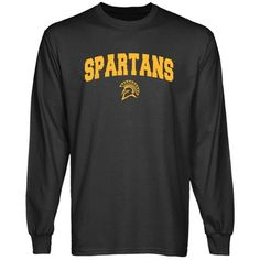 San Jose State Spartans Charcoal Logo Arch Long Sleeve T-shirt