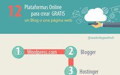 Las 12 mejores plataformas para crear gratis tu web o blog (infografía)