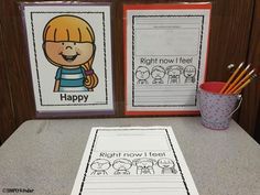 Time out space for kids to reflect on their behavior. (Includes free poster and tracking paper. Writing Pictures, Picture Writing Prompts, Emotions Activities, Writing Activities, Work On Writing, Writing Ideas, Inside Schools, Teaching Plan, Teaching Ideas