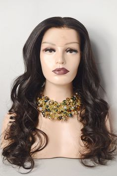 Eurasian Black Lace Frontal wig with density. Available in - Layla comes with an attached adjustable strap, titanium teeth combs, and a complementary hair bag for proper storage. *LAYLA is an AVH IN STOCK & READY TO SHIP Unit! All Virgin Hair, Lace Frontal, Teeth, Wigs, Chokers, Ship, Storage, Black, Fashion