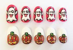Emoji Halloween nails #nails #nailart #halloween